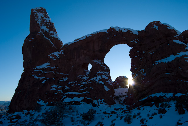 Turret Arch in sun light