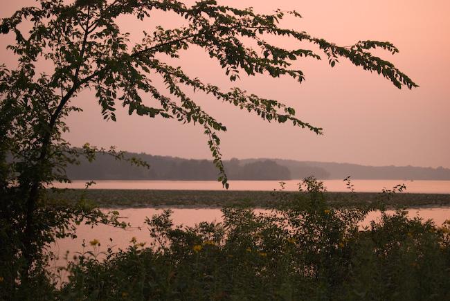 Sunset on Lake Macbride
