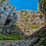 Inside a ruin