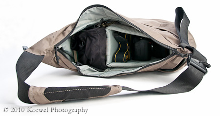 Passport Sling Bag side loaded view