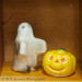 Ghost and pumpkin Halloween shakers