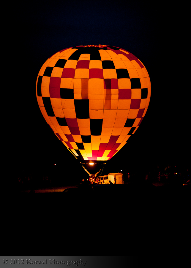 Single balloon glow, Altoona, Iowa, 2011