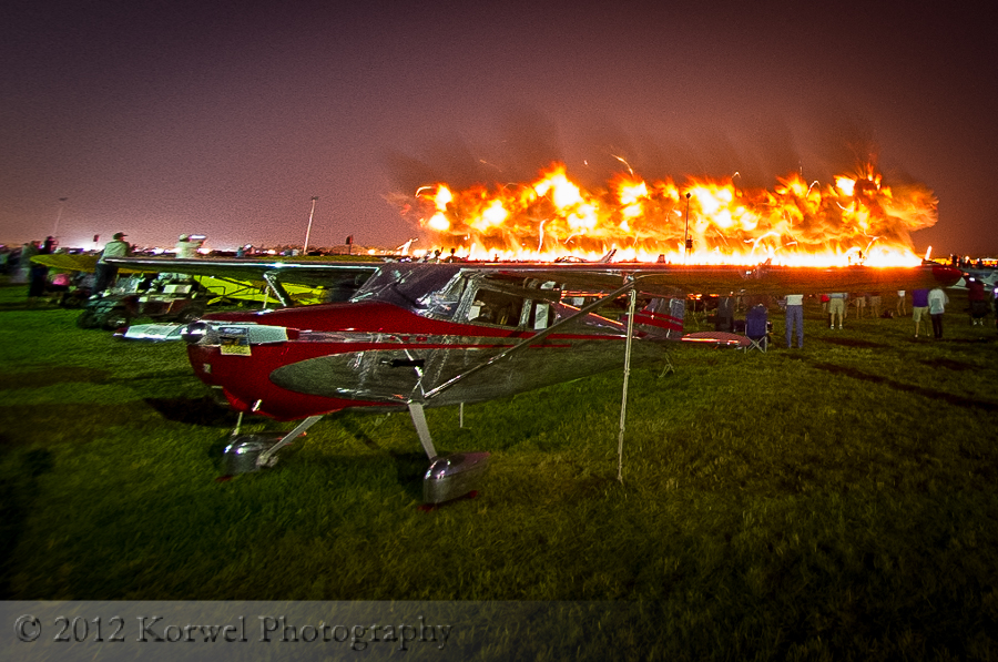 Fire on the winds, Airventure 2012, Oshkosh, Wisconsin