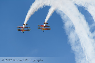 Iron Eagles Aerobatic Team performing over Airventure 2012