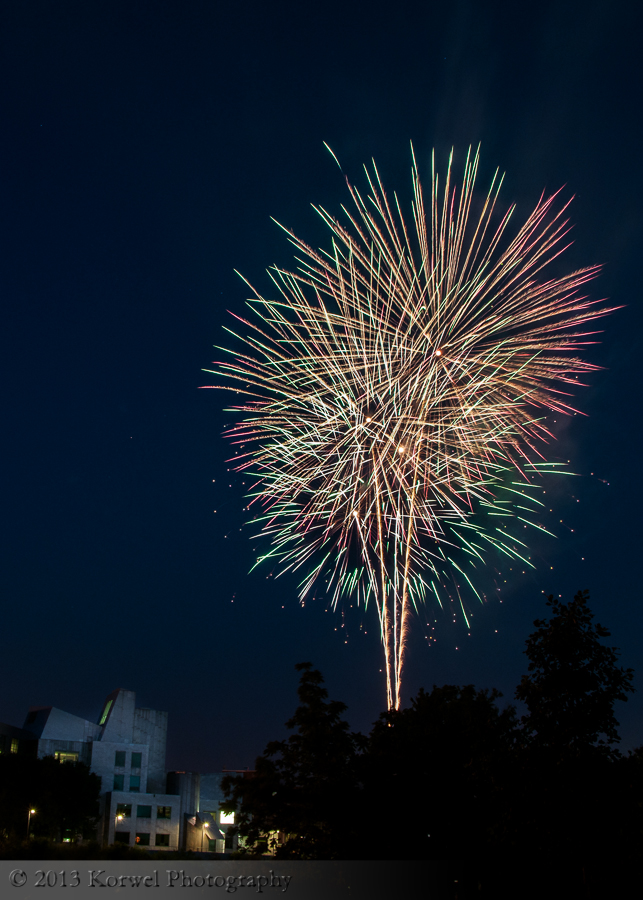 Fireworks in Iowa Citym summer 2012