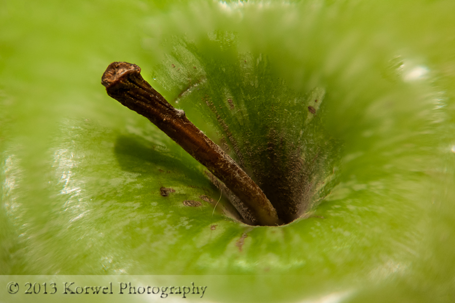 Granny Smith green apple close up