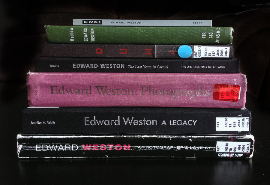 Weston books stack