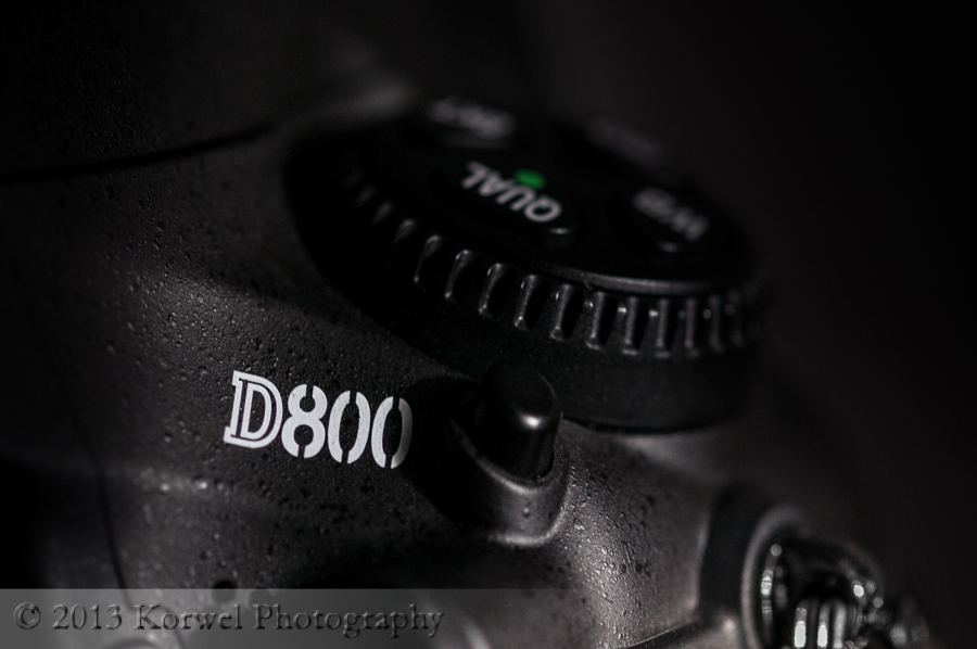 Close up of Nikon D800