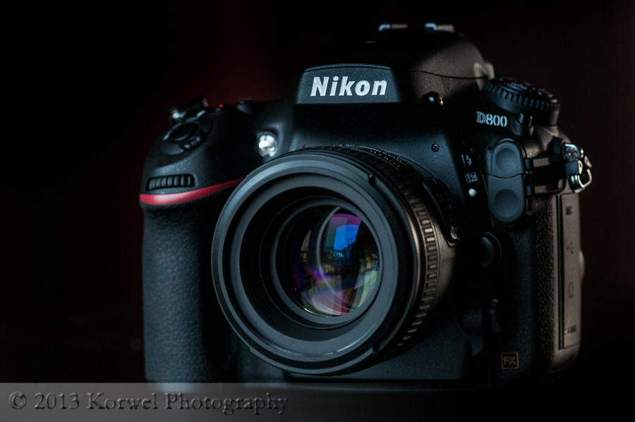 Nikon D800 with Nikkor 50 mm lens