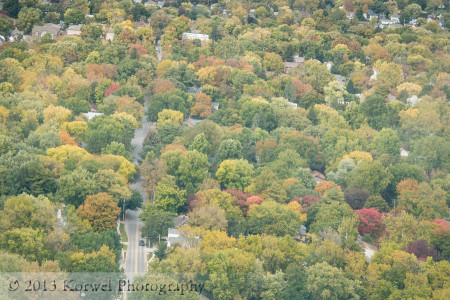Above the autumn in Iowa City