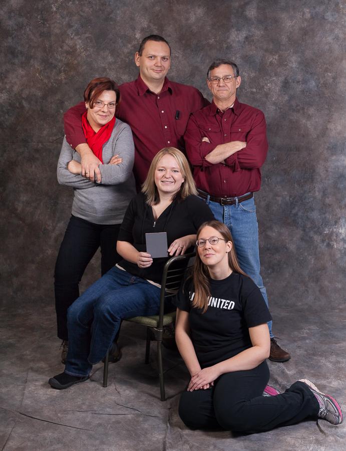 Volunteers at RED Ahead Cedar Rapids Help Portrait - photo courtesy of Kaylyn Hoskins