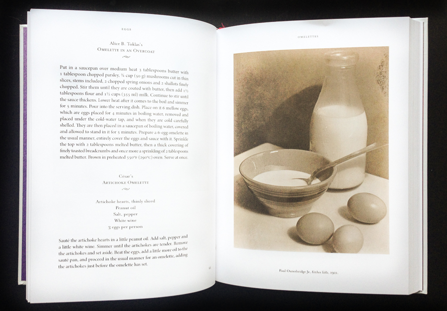 Eggs page from Modern Art Cookbook