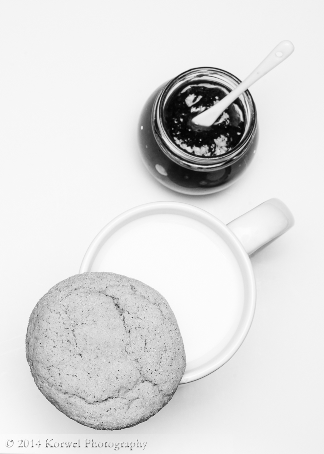 Still life with snickerdoodle in B&W