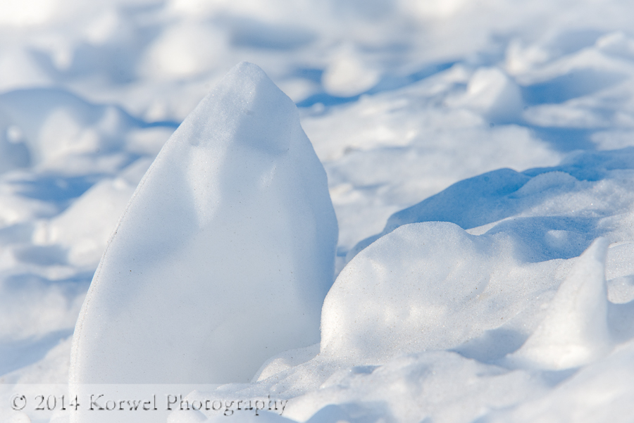 Snowbergs in the filds
