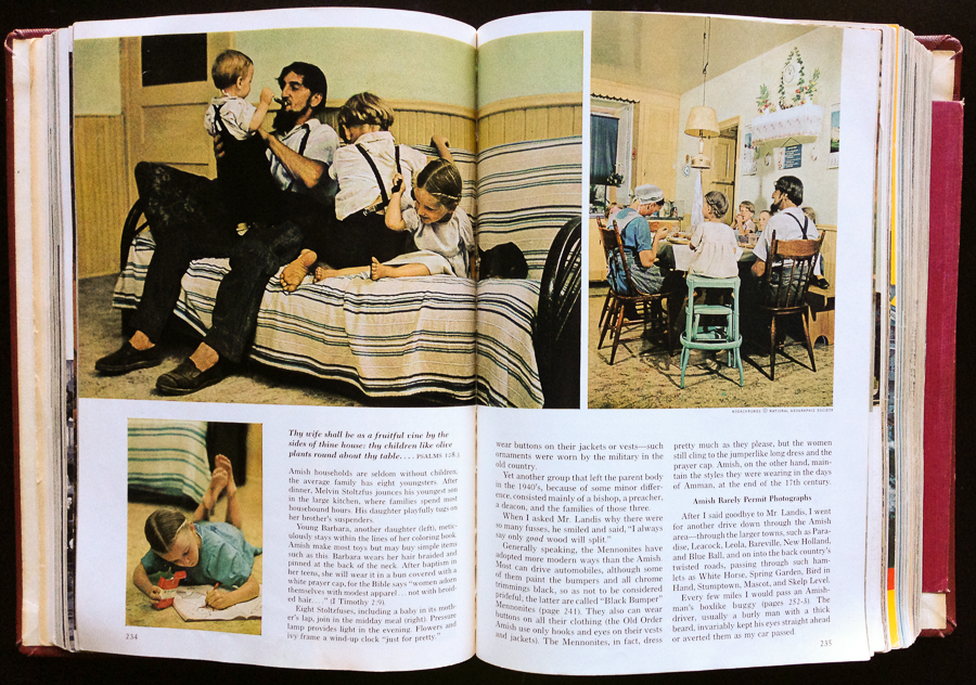 NatGeo August 1964 - Amish by WA Allard middle page