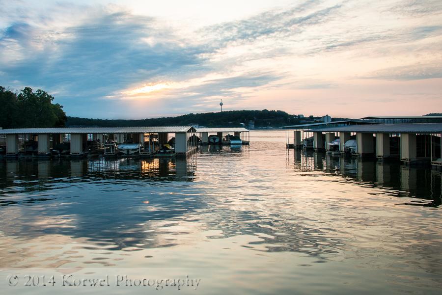 Sunrise in Kapilana Resort, Lake of the Ozarks, Missouri