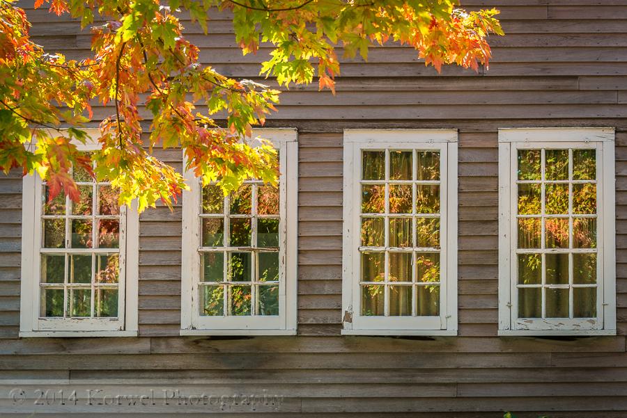 Windows in Amana house, Iowa
