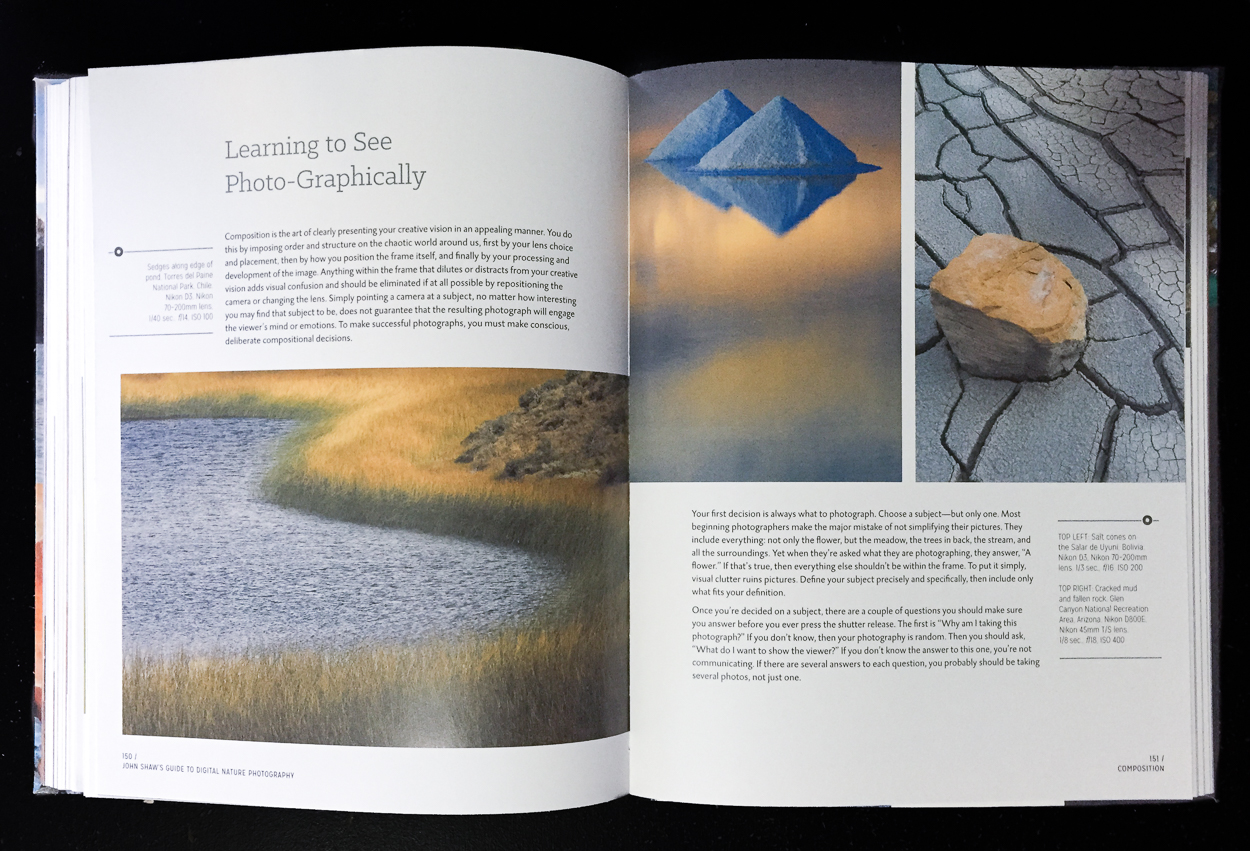 John Shaw's Guide to Digital Nature Photography spread 1