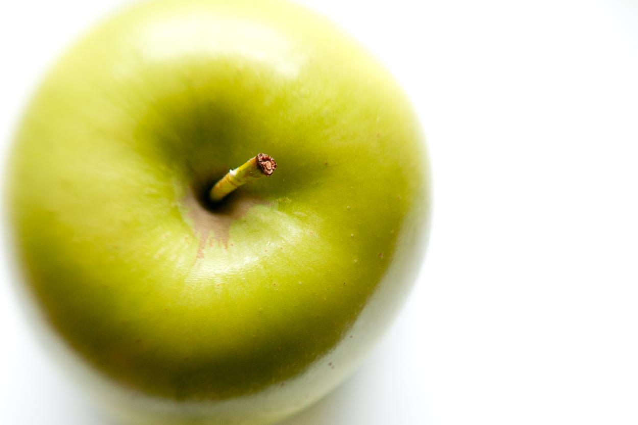 Green Golden delicious apple