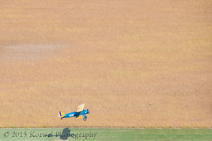Stearman taking off